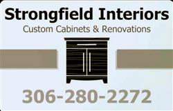 Strongfield Interiors Custom Cabinets & Renovations 306-280-2272