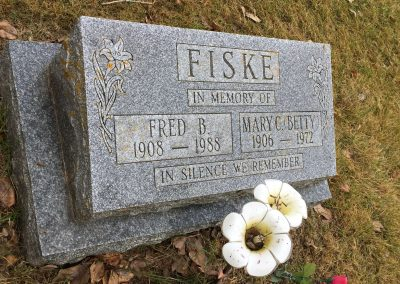 28A South - Fred B. Fiske North - Mary C. Betty