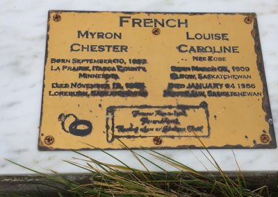 72A South - Myron Chester French North - Louise Caroline French (nee Kobe)