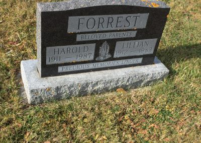 92B South - Harold Forrest North - Lillian Forrest